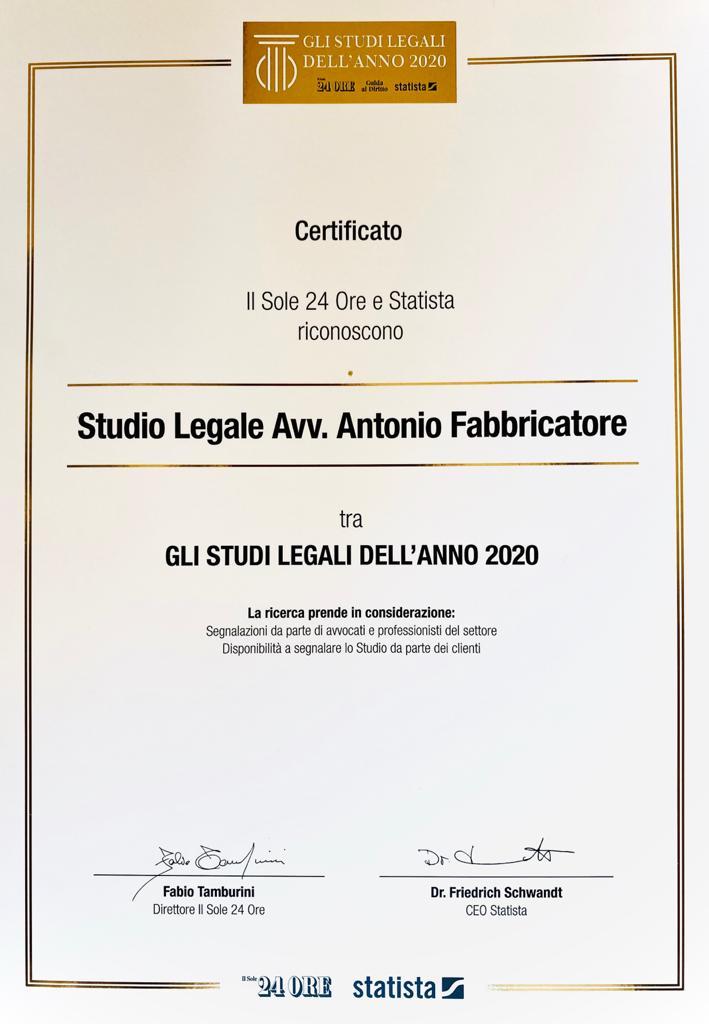 AFVision - Studio Legale 2020 - Sole24Ore